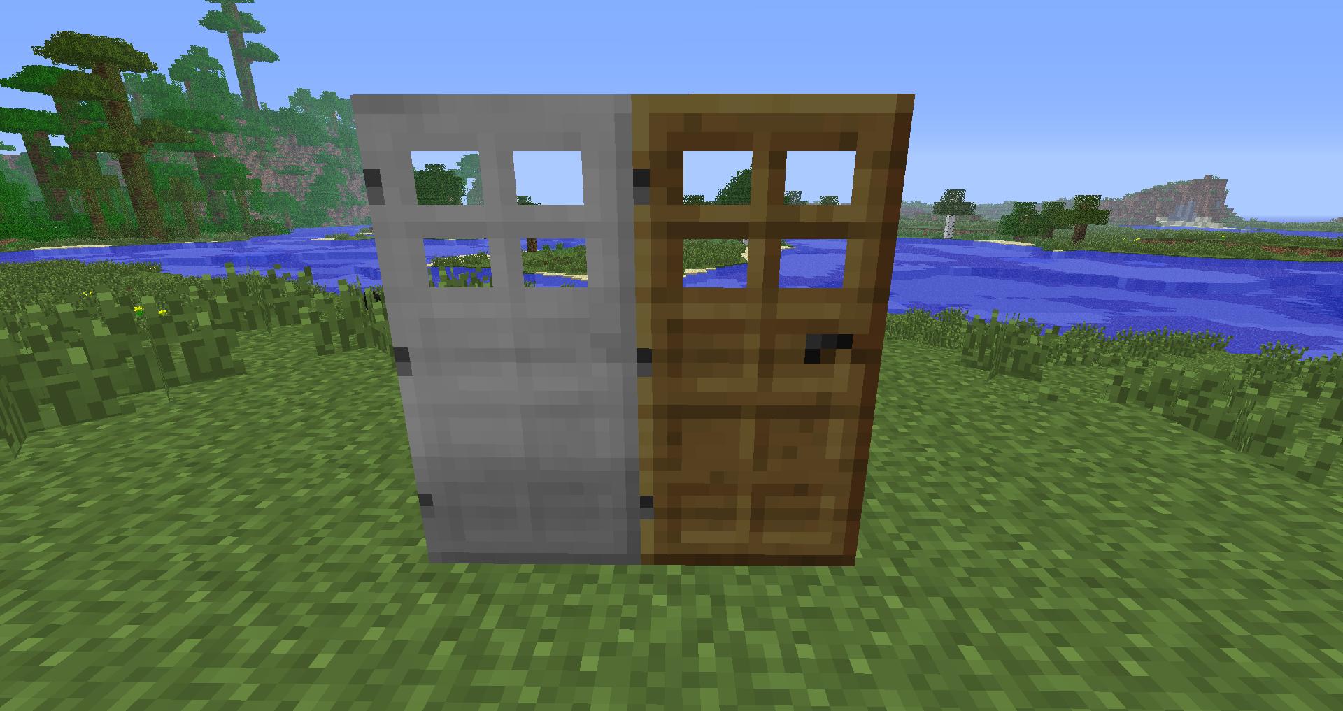dveri v minecraft