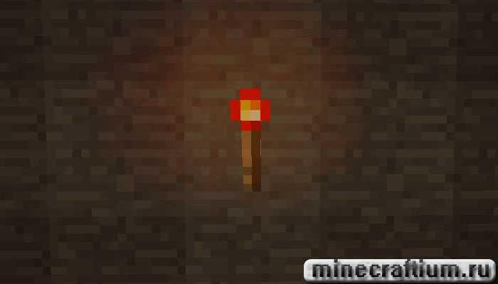 вид красного факела