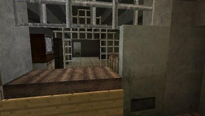 Внутри разрушенного дома