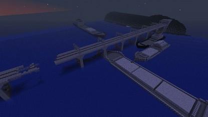 мост с баржами