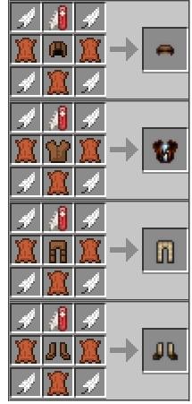 рецепт меховой брони из мода Camping