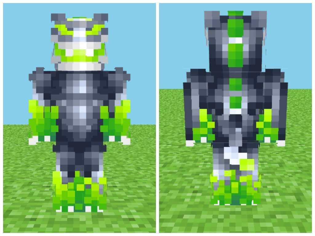 скин зеленого дракона