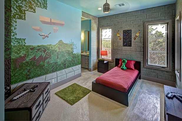 Интерьер спальни в стиле Майнкрафт
