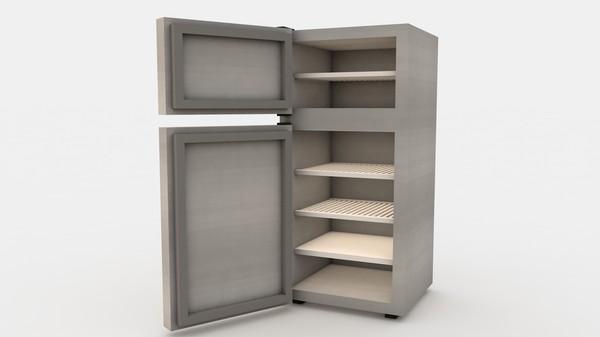холодильник с открытыми дверцами